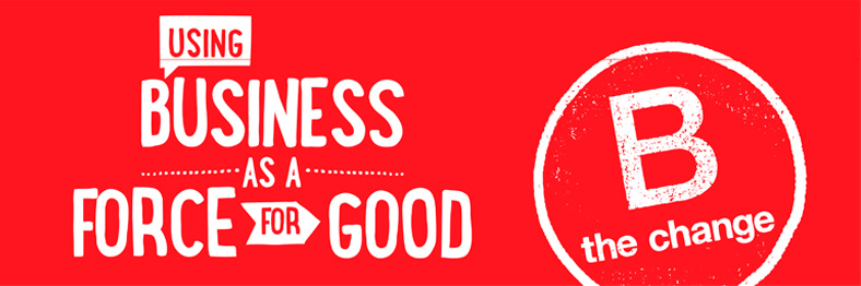 banner de b corp using business as a force for good