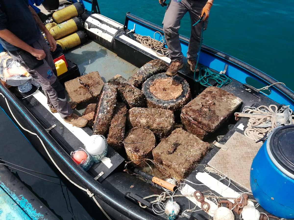 Campaña de retirada de residuos de grandes dimensiones dentro del proyecto LIBERA por parte de Submon