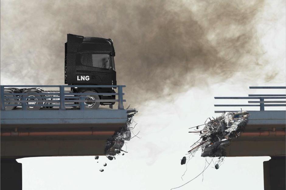 Las pruebas en carretera demuestran que los camiones a gas son tan perjudiciales para el clima y la salud como los diésel