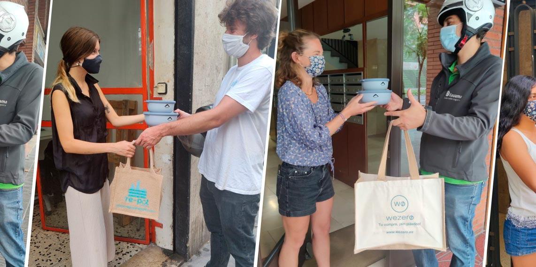 Re-pot market se une con Bûmerang para luchar contra el plástico de un solo uso