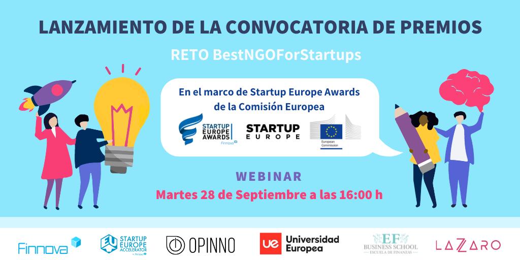 Lanzamiento de la convocatoria de premios «Reto Best NGO For Startups»